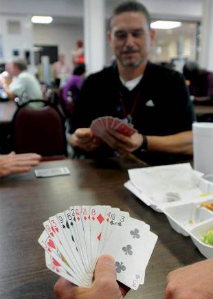 If it's lunchtime at Pantex, there's a game of Spades taking place.