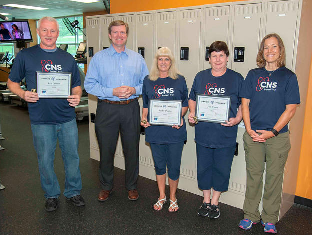 CNS's winning Active for Life challenge team