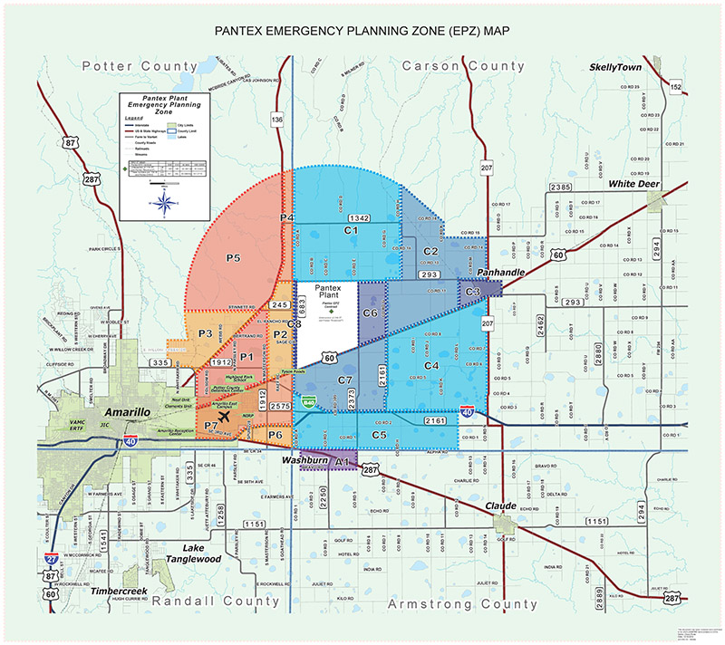 Emergency Planning Zone Map