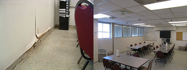 Mechanic's Break Room Before and After