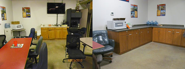 Yard Group's Break Room Before and After