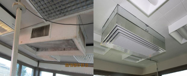 AC before and after