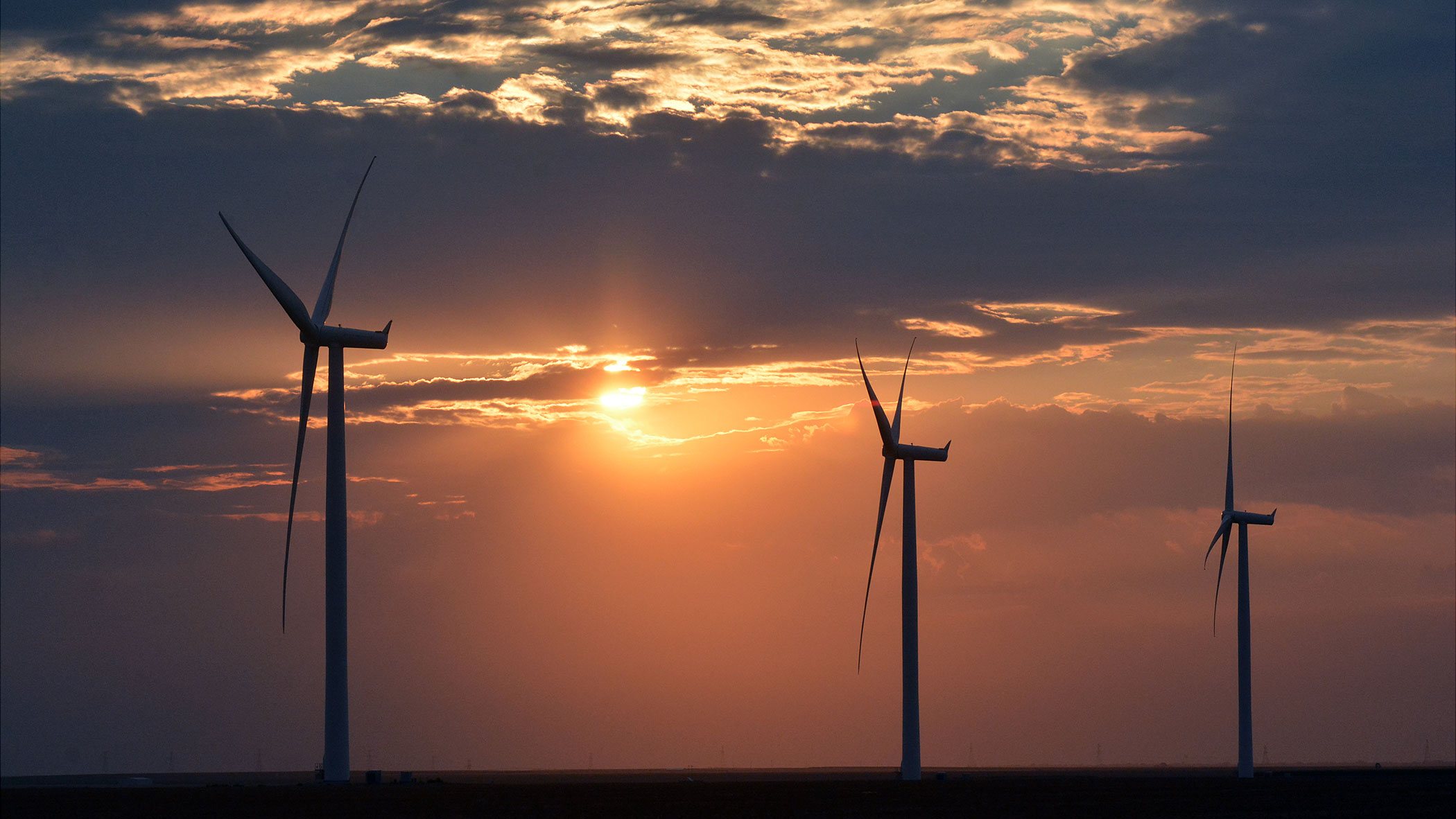 Pantex wind farm at dawn